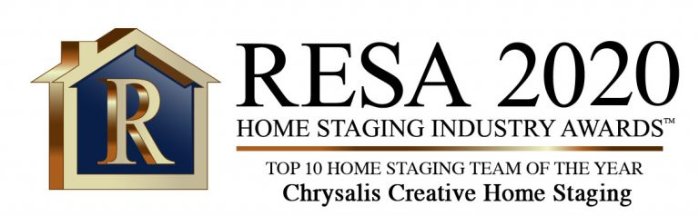 RESA 2020 Top 10 Home Staging Team of the Year Chrysalis Creative Home Staging